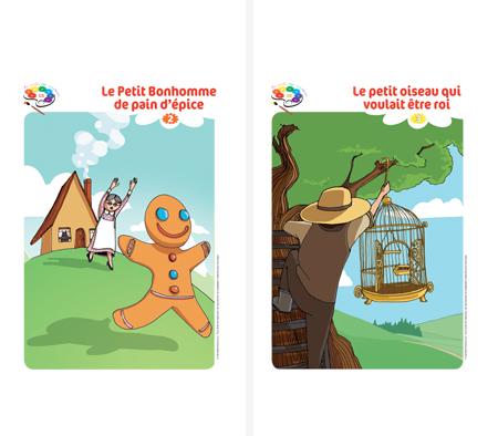 Affiche conte Au jardin des couleurs1 GS