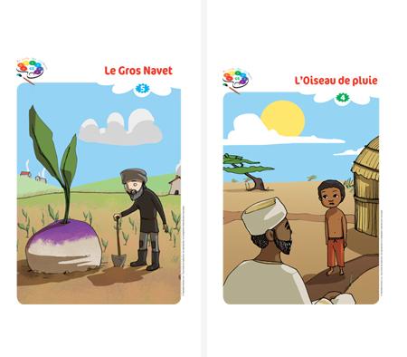 Affiche conte Au jardin des couleurs2 GS