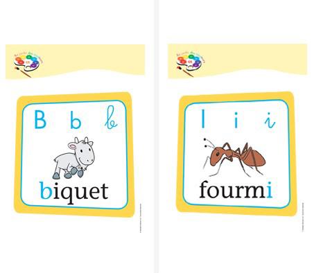 Affichettes lettres Au jardin des couleurs1 GS