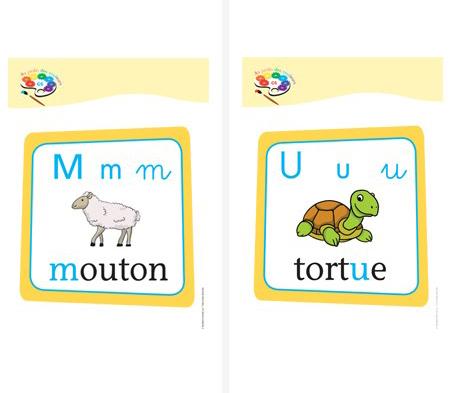 Affichettes lettres Au jardin des couleurs2 GS